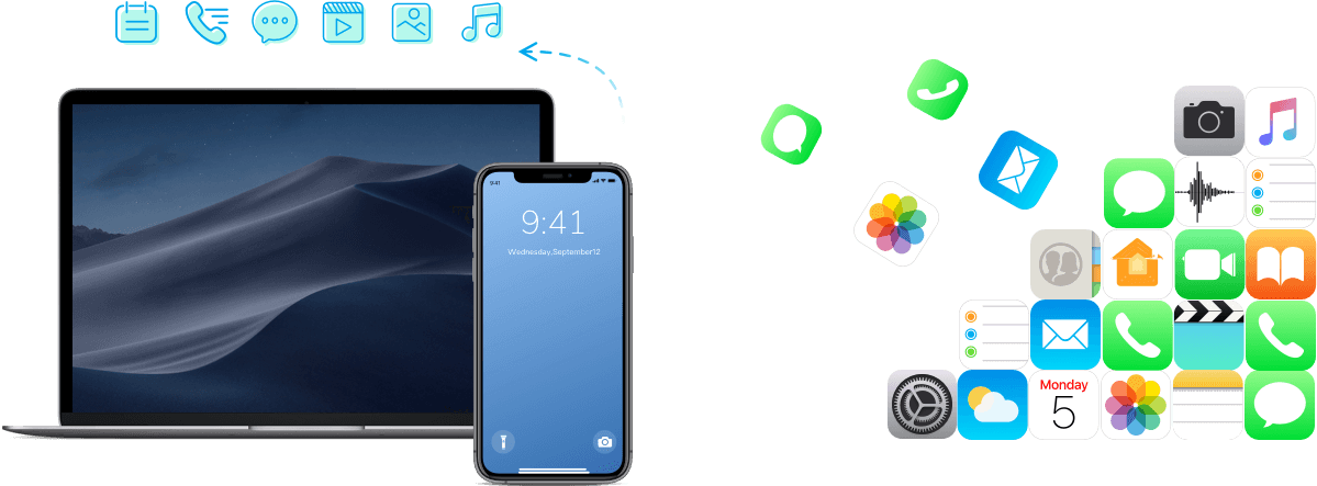 1 click to backup iphone